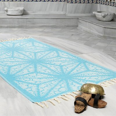 Amet 100% Turkish Cotton Peshtemal Lightweight Beach Towel Color: Turquoise