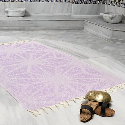 Amet 100% Turkish Cotton Peshtemal Lightweight Beach Towel Color: Lilac