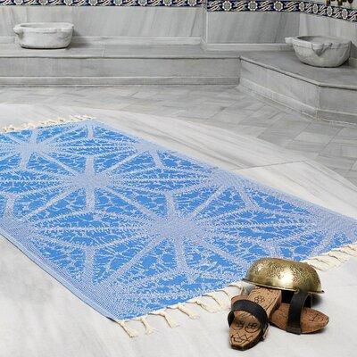 Amet 100% Turkish Cotton Peshtemal Lightweight Beach Towel Color: Royal Blue