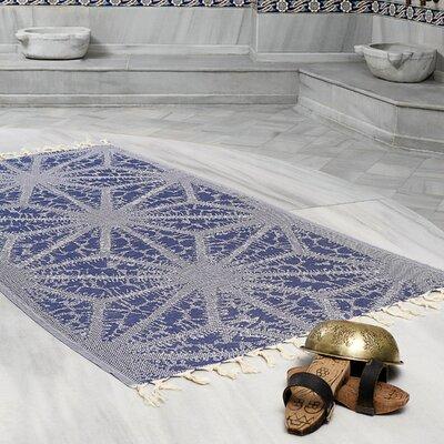 Amet 100% Turkish Cotton Peshtemal Lightweight Beach Towel Color: Navy Blue