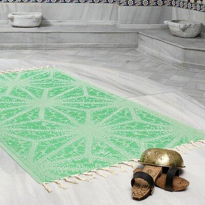Amet 100% Turkish Cotton Peshtemal Lightweight Beach Towel Color: Green