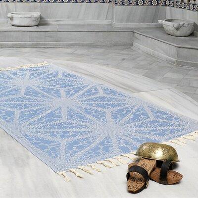 Amet 100% Turkish Cotton Peshtemal Lightweight Beach Towel Color: Denim Blue