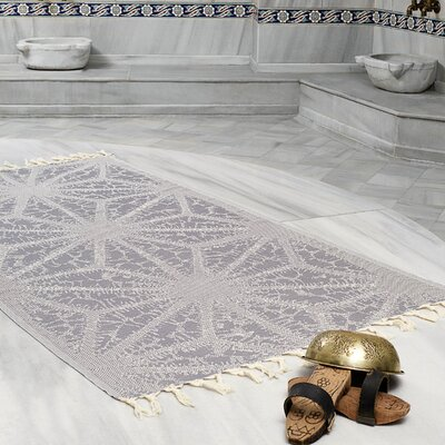 Amet 100% Turkish Cotton Peshtemal Lightweight Beach Towel Color: Charcoal