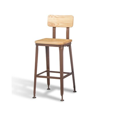 Brighton Bar Stool (Set of 50) Size: 39 H x 19 W x 17 D