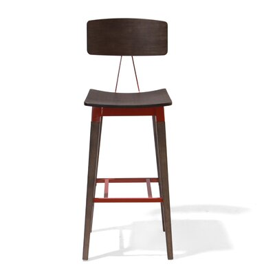 Cassina Bar Stool Size: 43 H x 17 W x 16 D