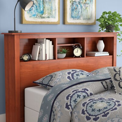 Hayman Bookcase Headboard Size: Full, Color: Cherry
