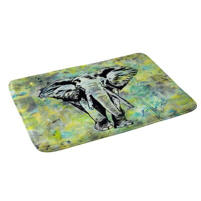 Amy Smith The Tough Elephant Bath Rug