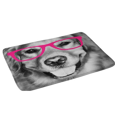 Allyson Johnson Hippest dog pink Bath Rug