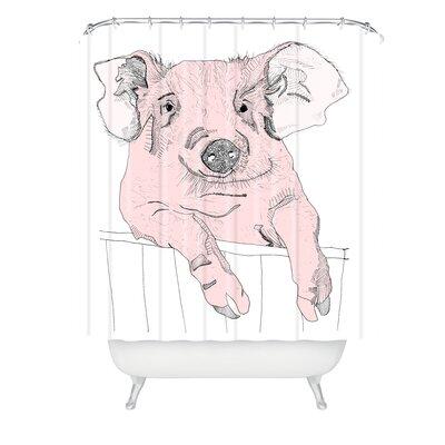 Casey Rogers Piggywig Shower Curtain