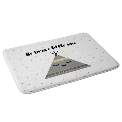 Elisabeth Fredriksson Be Brave Little One Bath Rug