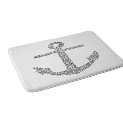 Restudio Designs Anchor Word Print Bath Rug