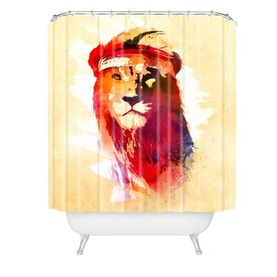 Robert Farkas Gym Lion Shower Curtain