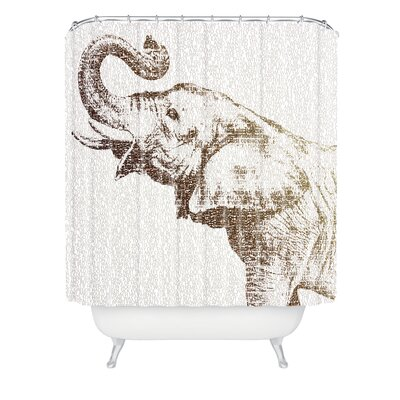 Belle13 The Wisest Elephant Shower Curtain