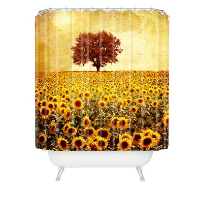 Viviana Gonzalez Lone Tree and Sunflowers Field Shower Curtain