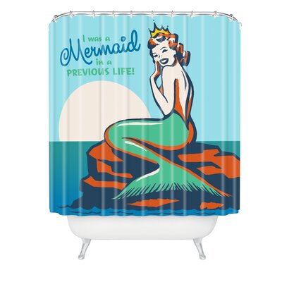 Anderson Design Group Mermaid In A Previous Life Shower Curtain