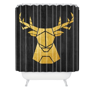 Nick Nelson Deer Symmetry Shower Curtain