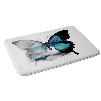 Emanuela Carratoni The Blue Butterfly Bath Rug