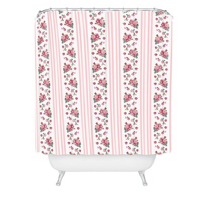 Lisa Argyropoulos Vintage Floral Stripes Shower Curtain