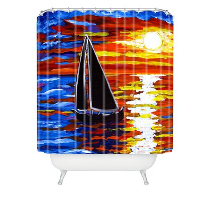 Renie Britenbucher Sunset Sail Shower Curtain