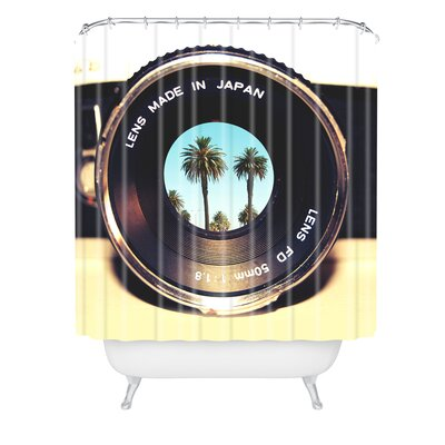 Bianca Focus on Palms Shower Curtain