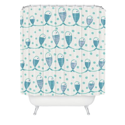 Gabriela Larios Mare Peces Shower Curtain