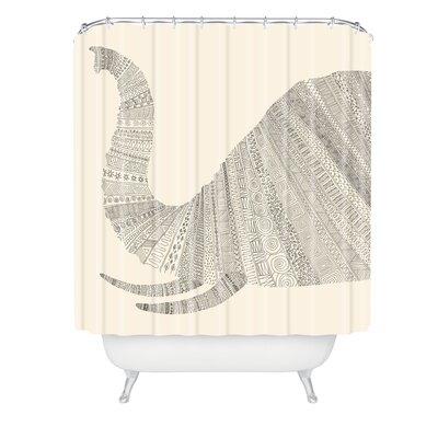 Florent Bodart Elephant Shower Curtain