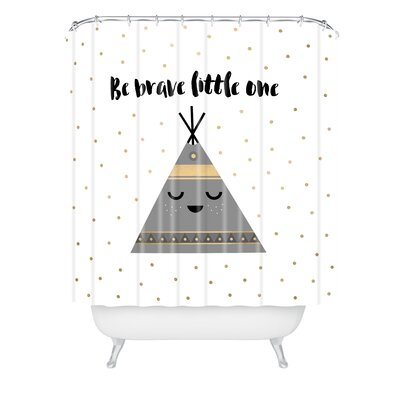 Elisabeth Fredriksson Be Brave Little One Shower Curtain