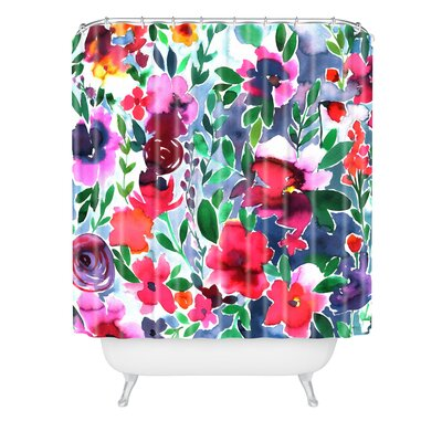 Amy Sia Evie Floral Shower Curtain