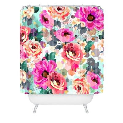 Marta Barragan Camarasa Geometric Flowers Shower Curtain