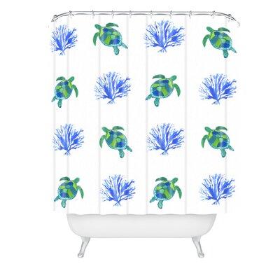 Laura Trevey Sea Turtles Shower Curtain