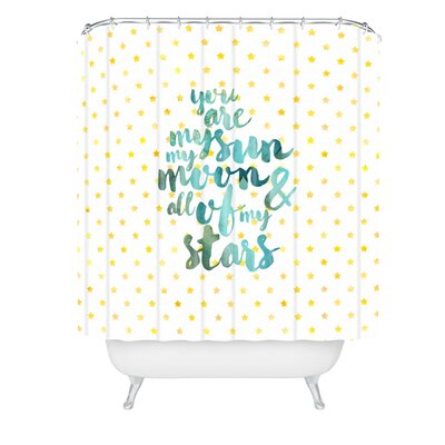 Hello Sayang Sun Moon Stars Shower Curtain