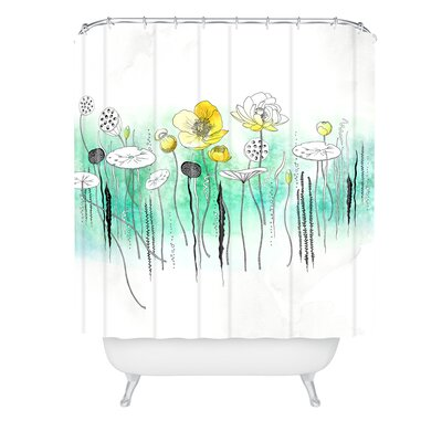 Iveta Abolina Watercress Pond Shower Curtain