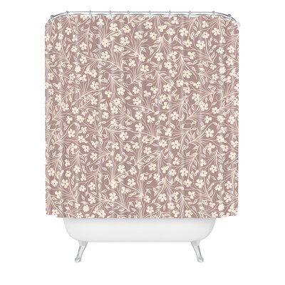 Jenean Morrison Pale Flower Shower Curtain