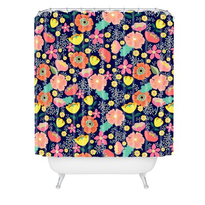 Hello Sayang Night Wild Flowers Shower Curtain