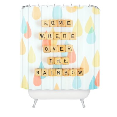 Happee Monkee Somewhere Over The Rainbow Shower Curtain
