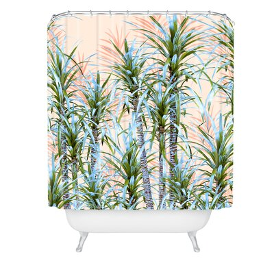 Marta Barragan Camarasa Pastel Palm Trees Shower Curtain