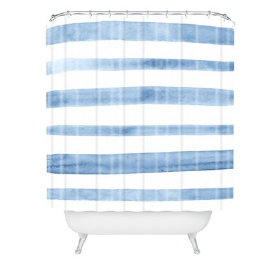 Kelly Haines Stripes Shower Curtain