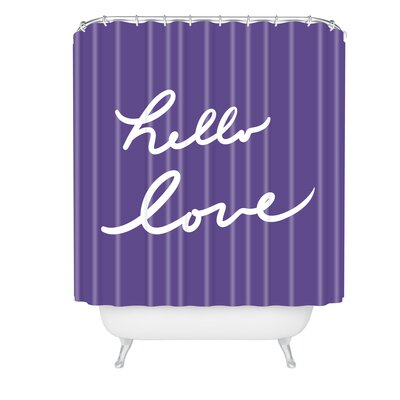 Lisa Argyropoulos Hello Love Violet Shower Curtain
