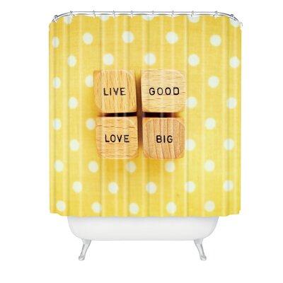 Happee Monkee Live Good Love Big Shower Curtain