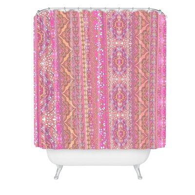 Aimee St Hill Farah Stripe Soft Blush Shower Curtain
