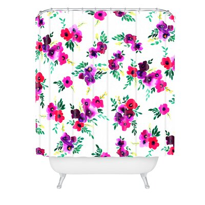 Amy Sia Ava Floral Shower Curtain