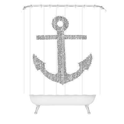 Restudio Anchor Word Print Shower Curtain