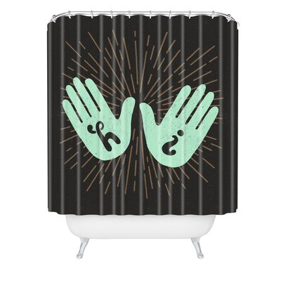 Nick Nelson Hi Fives Shower Curtain