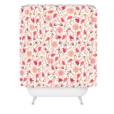 Gabriela Larios Flamingos Shower Curtain