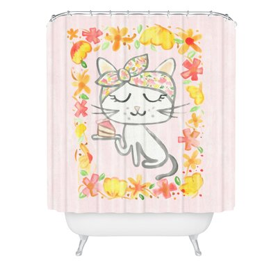 Dash and Ash Cake Madam Shower Curtain