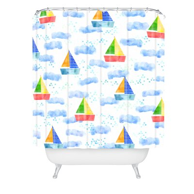 Hello Sayang Ahoy Hoy Shower Curtain