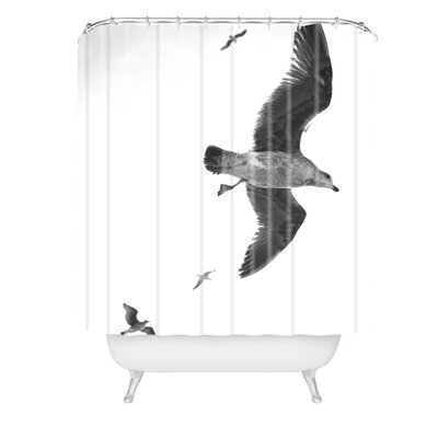 Lisa Argyropoulos Flight of Fancy Monochrome Shower Curtain
