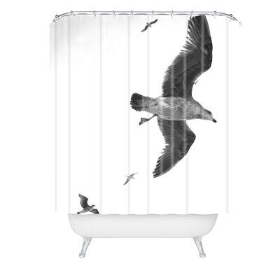 Lisa Argyropoulos Flight of Fancy Monochrome Shower Curtain