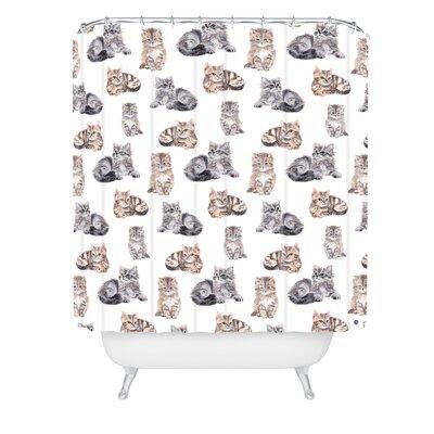 Wonder Forest Smitten Kittens Shower Curtain