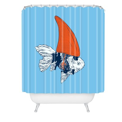 Evgenia Chuvardina Big Fish in a Small Pond Shower Curtain